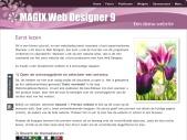Xara Web Designer - A demo website