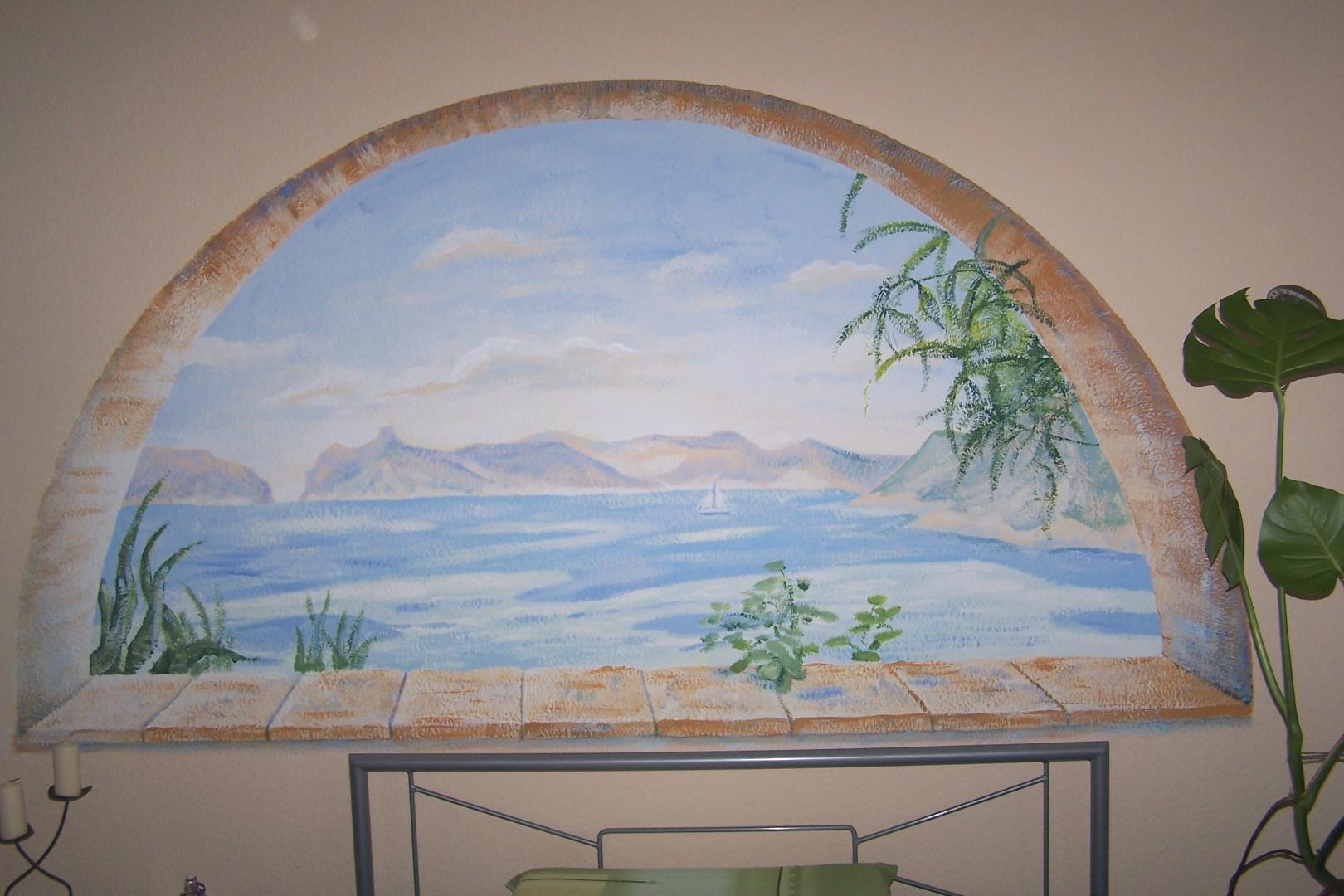 illussionsmalerei an der wand landschaften meine bildergalerie. Black Bedroom Furniture Sets. Home Design Ideas