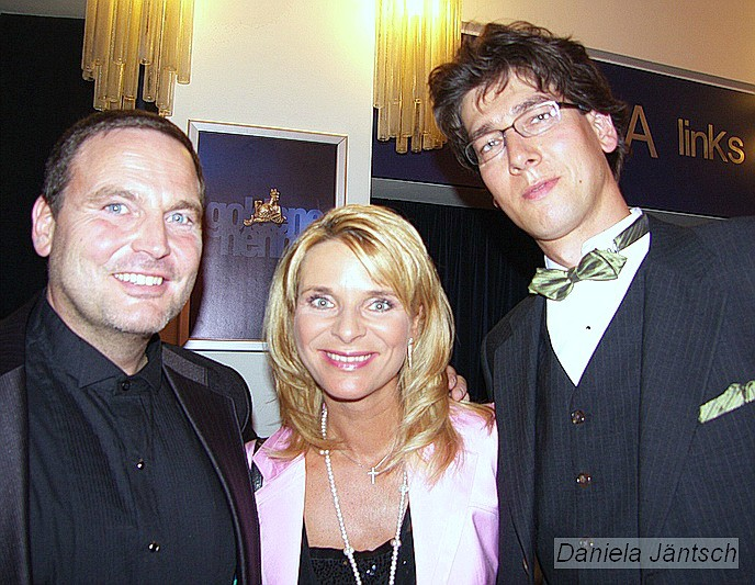 Uta Bresan mit Ehemann Karsten und Michael Schaedel