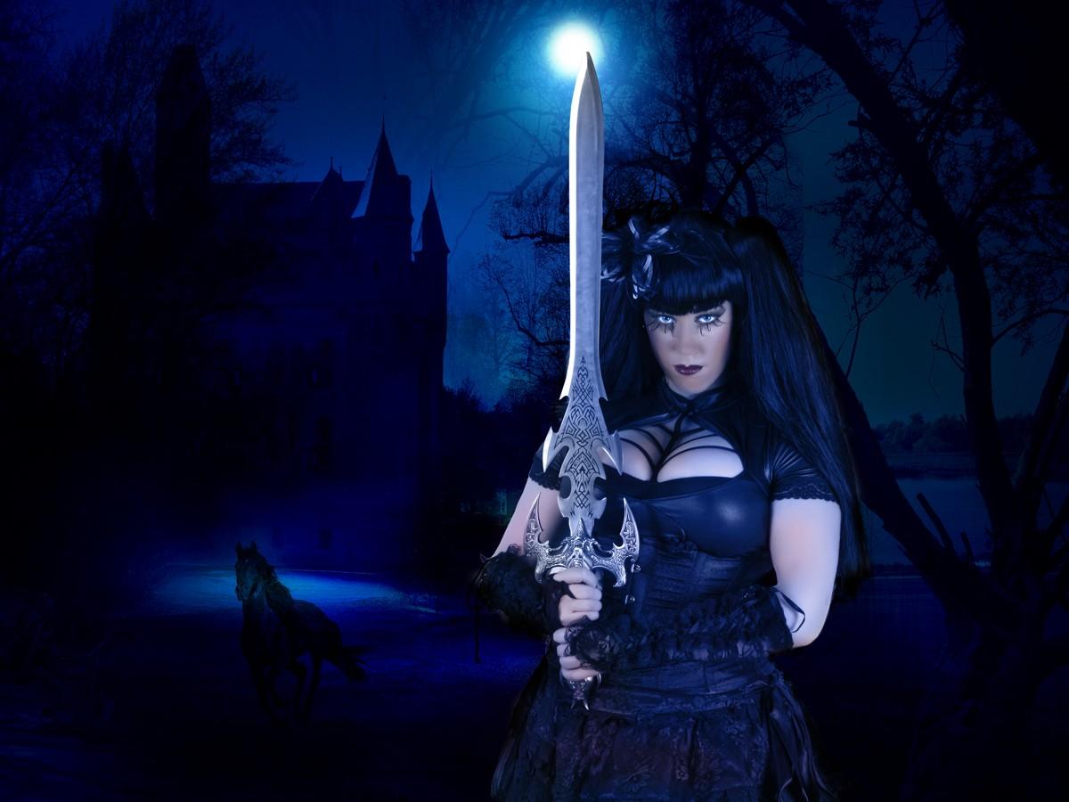 Gothic warrior women fucks clip