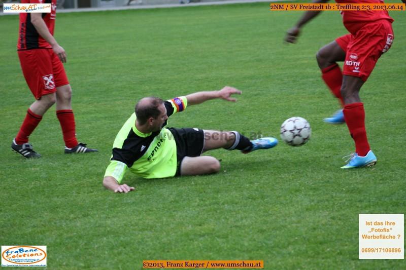 Spielszene SV Freistadt 1b : Treffling