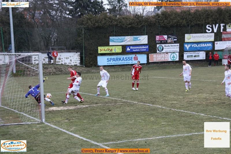Spielszene SV Freistadt : Vorwärts Steyr