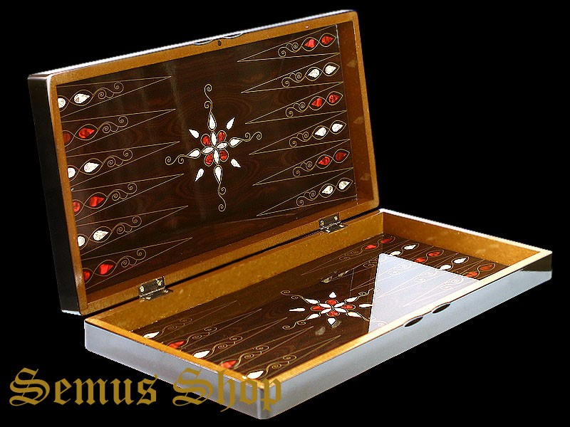 orientalische backgammon tavla xxl intarsien look antep mit holz spielsteine ebay. Black Bedroom Furniture Sets. Home Design Ideas
